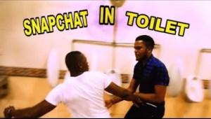 Video: Zfancy Tv Comedy - SnapChatting in Public Toilet (African Pranks)